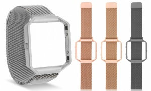 Fitbit Blaze Compatible Metal Mesh Straps with Frame