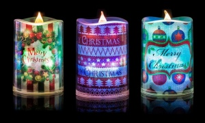Battery Operated Color Changing Pillar Candles in Assorted Designs
