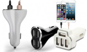 Aduro PowerUp 4-Port USB Car Charger
