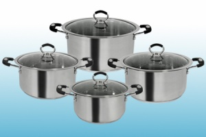 Supreme 4 Piece Casserole set with Glass Lid