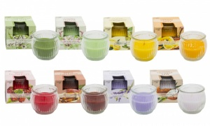 Arome Pur Scented Round Candles in Candle Holder (Pack of 6)