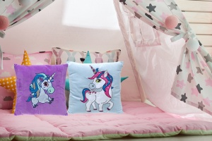 Padded Unicorn 14inch cushion Assorted