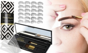 24 eyebrow stencil kit-Claritude black brow compact
