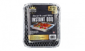 Instant BBQ With Steel Legs & Printed Lid
