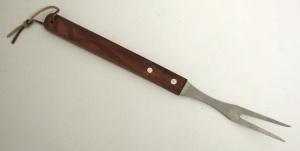 Bbq Fork With Wooden Handle