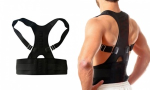 Heated magnetic Lumbar back support