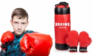 Tobar Boxing Champion Punch Bag With Gloves