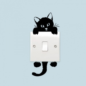3d Cute Cat Light Switch Sticker