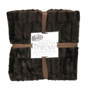 Large Faux Fur Microfibre Throw - Assorted Colours
