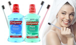 Colgate Plax Mouthwash with Wheat Tooth Brush
