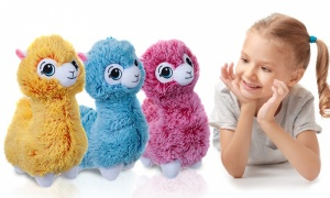 30cm Colourful Alpaca Plush 2-Tone with Assorted Colours