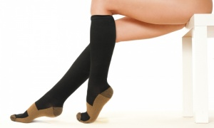 Knee High Copper Infused Compression Socks