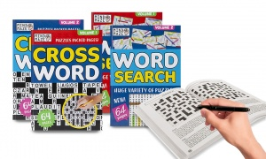 A5 Travel Crossword/Wordsearch Books Assorted