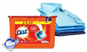 Daz Detergent Capsules Pods for Whites & Colours 12W, Pack of 2