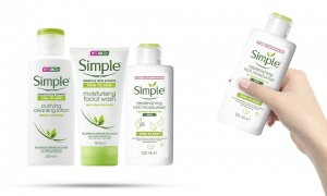 Simple Hydrating Rich Moisturiser 125ml with Cleansing Lotion 200ml and Moisturising Face Wash 150ml