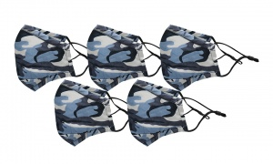 Face Mask - Kids - Camoflage Pack Of 5