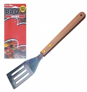 Deluxe Bbq Turner Wth Wooden Handle On Large Prtd Card