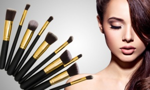 10pc deluxe makeup brushes
