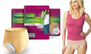 Depend Comfort Protect Incontinence Pants for Women