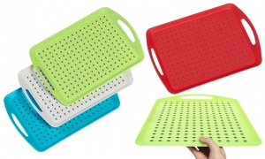 Non Slip Serving Tray 46x31cm Assorted