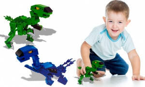 Dinosaur Brick Sets (2 Assorted)
