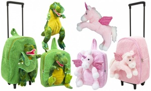 Doodle Dinosaur & Unicorn Backpacks and trolley with Plus Toy