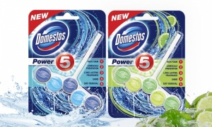 Pack of 3, 6, 9 Domestos Power 5 Rim Block 55g