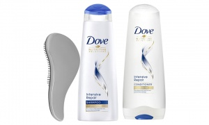 Dove Intensive Repair Shampoo & Conditioner With Hair Brush