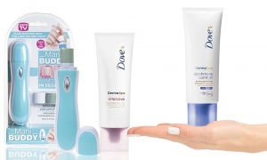 Dove Derma Spa Hand Treatment Cream with Nail Buffer and Shiner