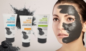 Dr Js Skin Revive Charcoal  facial scrub, clay mask and detox cleanser