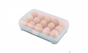 Kitchen Refrigerator 15pcs Eggs Preservation Plastic Box in Assorted Colours
