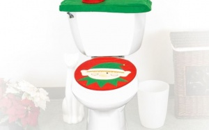 3pcs Elf Toilet Seat Cover Set