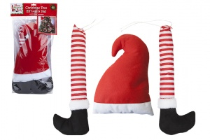Elf Legs With Hat For Xmas Tree