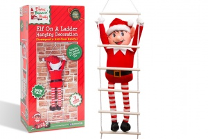 80cm Outdoor ELF on a Ladder