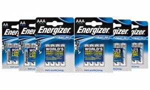 Energizer Ultimate Lithium - AA & AAA (4 Pack) Batteries