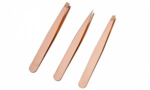 AQ Tweezer Set of 3 - Rose Gold