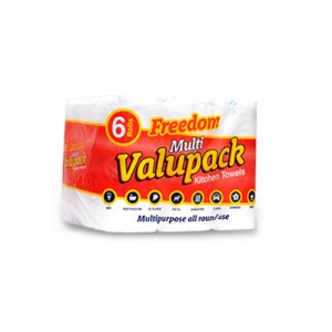 Freedom Valuepack 2Ply Kitchen Towels Pack of 24 Rolls