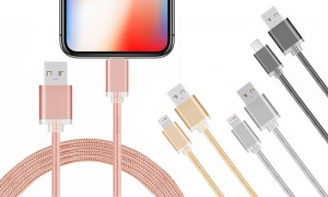 FX Powabud Braided USB Data Cable for iPhone 6