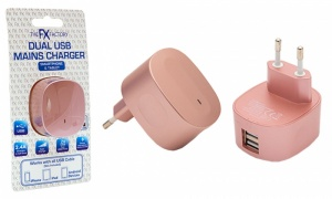 FX USB Mains charger 2.4Amp (EU)