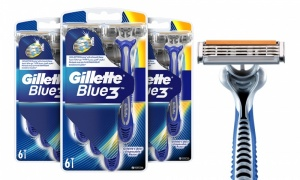 Pack Of 6 Gillette Blue 3 Disposable Razors