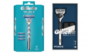 Gillette Mach 3 Razor & Fusion5 Proglide Chrome Razor and Stand Gift Pack