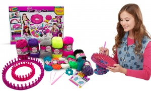 Girls 6 In 1 Knitting Set With Loom And Accessories