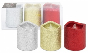 PMS Set Of 3 Glitter Candles