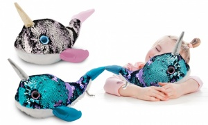 18'' Glitzies Narwhal Magic Sequin Plush Assorted