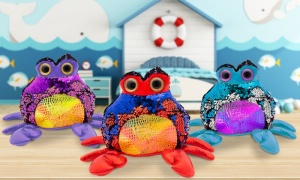 7'' Glitzies Crab Magic Sequin Plush Assorted