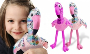 11'' Glitzies Flamingo Magic Sequin Plush Assorted