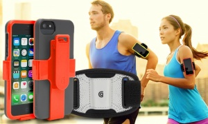 Griffin Red/Green FastClip Armband and Clip for iPhone 5/5s