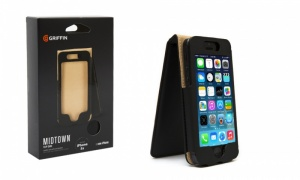 Griffin Midtown Flip Case for iPhone 5/5S/5C - Black