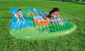 Bestway H20GO! Triple Lane Slime Blast Slide With Slime Packs