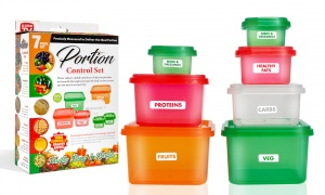 PMS Set of 7 Healthy Portion POTS in Colour Box